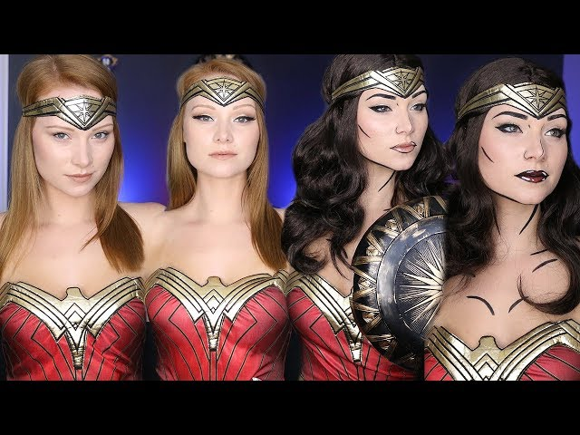 Wonder Woman Makeup Tutorial (4 Different Ways)