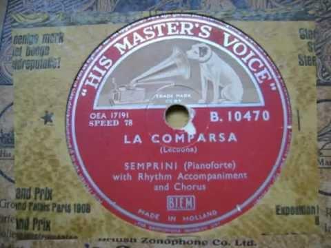La Comparsa - Alberto Semprini - 78 rpm