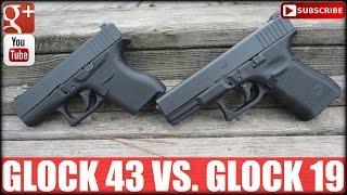 glock 43 vs glock 19 single vs double stack gun