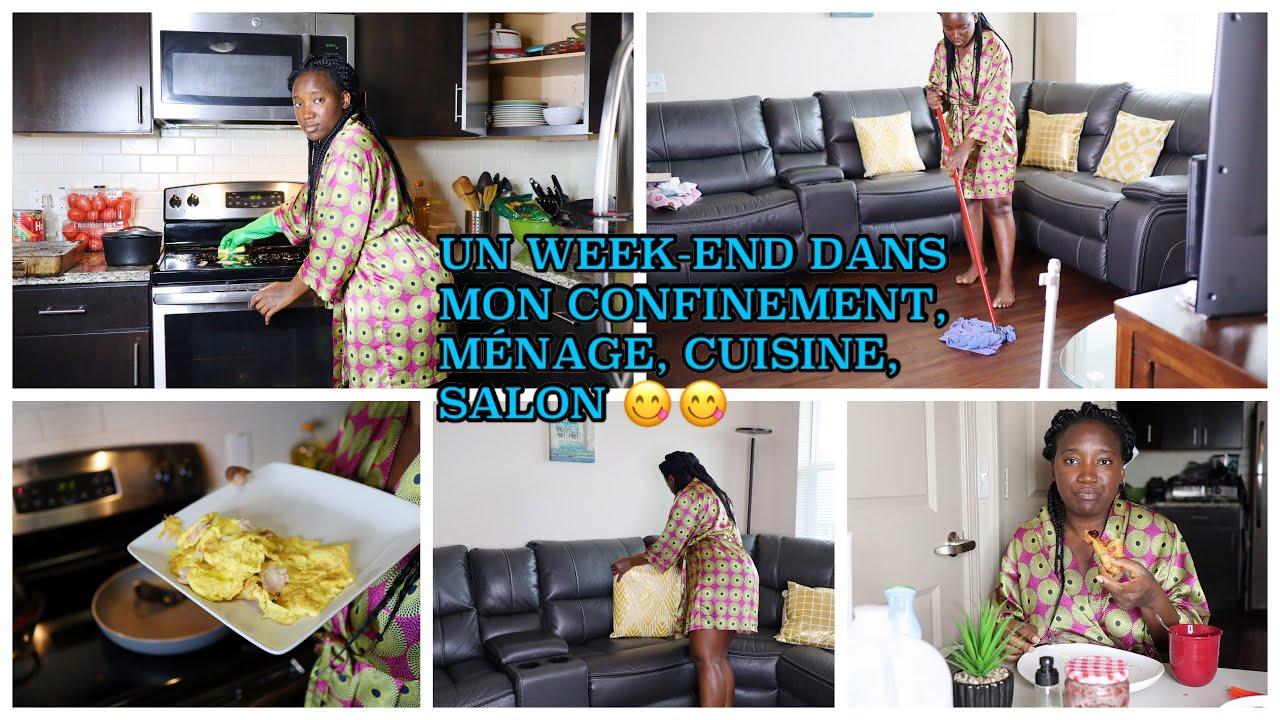 Un Week End Dans Mon Confinement Menage Cuisine Salon Youtube