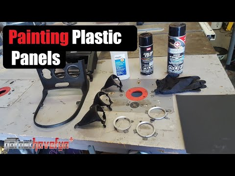 How To Paint Interior Panels Part 2 (Nissan 350Z Radio And Shifter Bezels) | AnthonyJ350