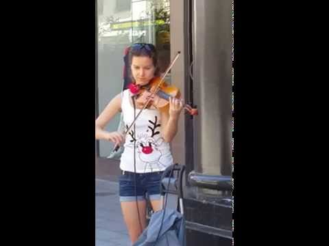Gorgeous violin playing at Rundle Mall. Adelaide