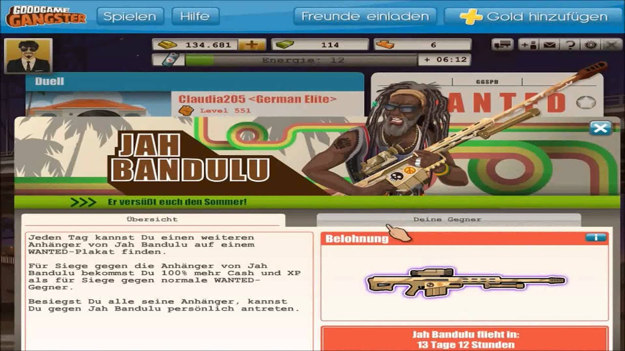 Goodgame Gangster Jah Bandulu Summer Event 2013 #GGG - YouTube Goodgame Gangster