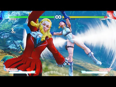 Street Fighter V Karin Critical Arts Ultra Combo on All Characters