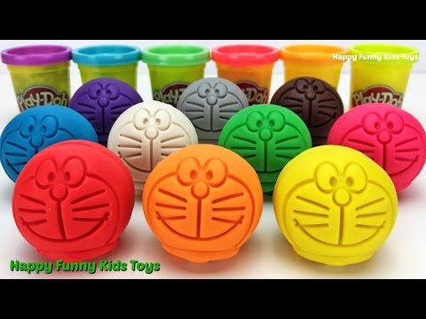 Thumbnail: Learn Colors with Play Doh Doraemon Ice Cream Popsicle Car Pumpkin Bus Bicycle Molds Fun for Kids