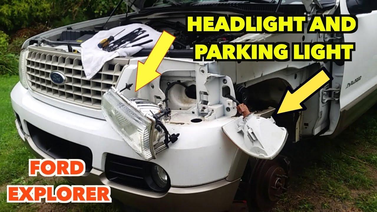 Headlight Turn Signal Light Removal Ford Explorer 2002 2005 Youtube 2001 Sport Trac Fuel Filter