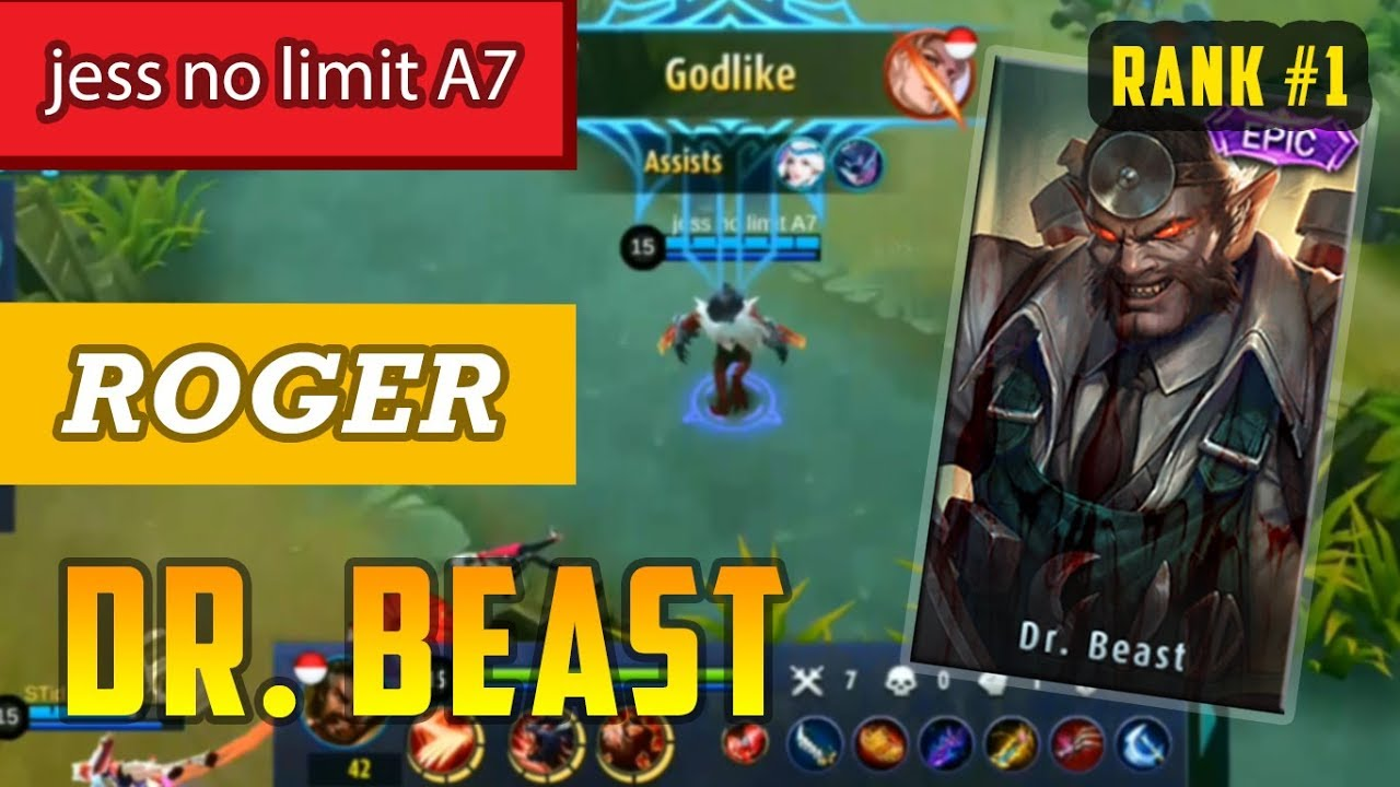top global 1 | roger dr. beast skin | build by jess no