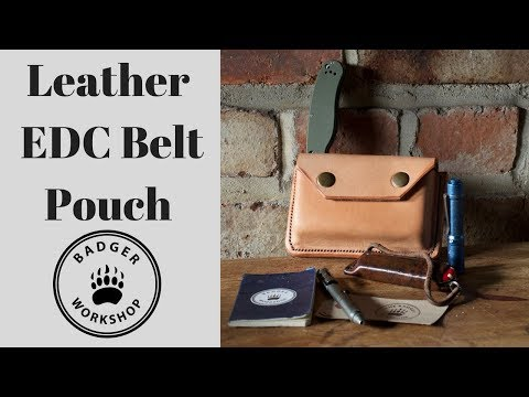 Leather EDC Belt Pouch