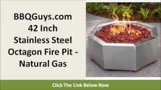 Bbqguys.com Fire Pit: Bbqguys.com 42 Inch Stainless Steel Octagon Fire Pit - Natural Gas