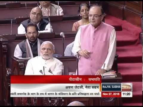 Arun Jaitley's remarks on India's Constitution