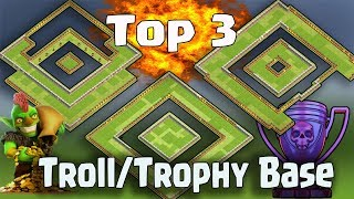 Clash Of Clans - TOP 3 TH11 (TOWN HALL 11) Troll Base /Trophy Bases/ ...