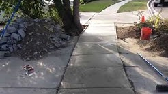 Poured Sidewalk walkway with expansion joints 2500 PSI mix by Shafran