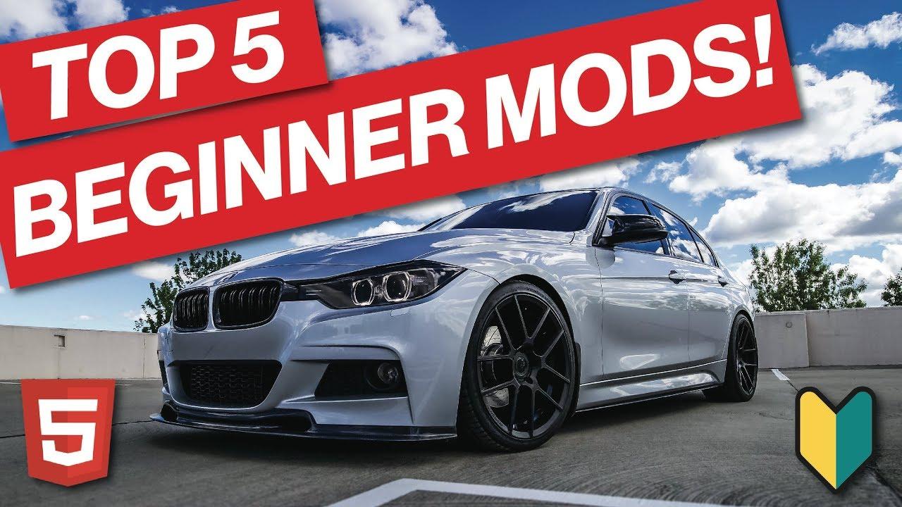 TOP 5 F30 BMW BEGINNER MODS | YOU SHOULD START HERE!!!