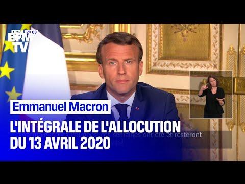Coronavirus: l'intégrale de l'allocution d'Emmanuel Macron du 13 avril 2020