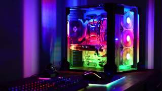 lian li pc o8 case with custom led ws2812 effects and razer keyb mouse rainbow effect