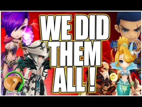 SUMMONERS WAR : 4-Year Anniversary Hall of Heroes - All 5 Dungeons