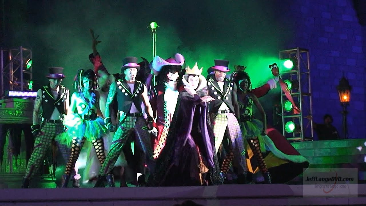 mickey's not so scary halloween party 2012, villains dance mix