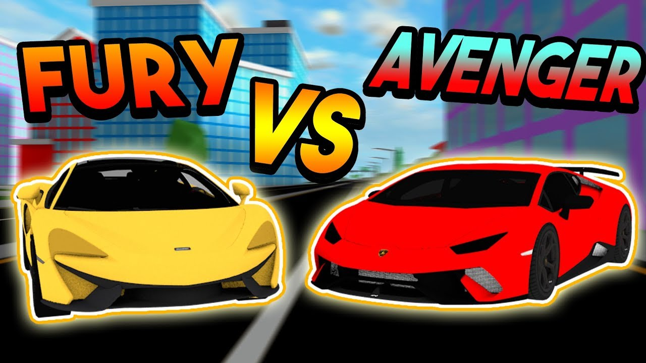 Getting The New 3 Million Fastest Car Fury Roblox Mad City New - Fury Vs Avenger Race Speed Turning Time Tests Roblox