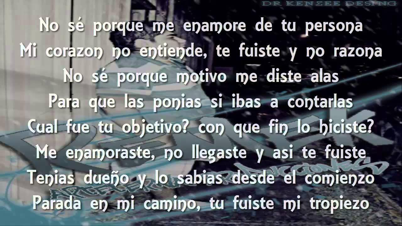 Alee Alejandro Ft Remek Porque Me Enamore De Ti Letra Youtube