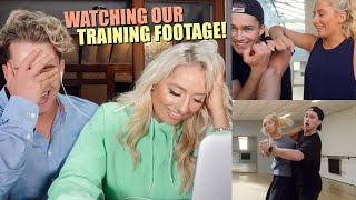Reacting to our FIRST DANCE on strictly & our training footage