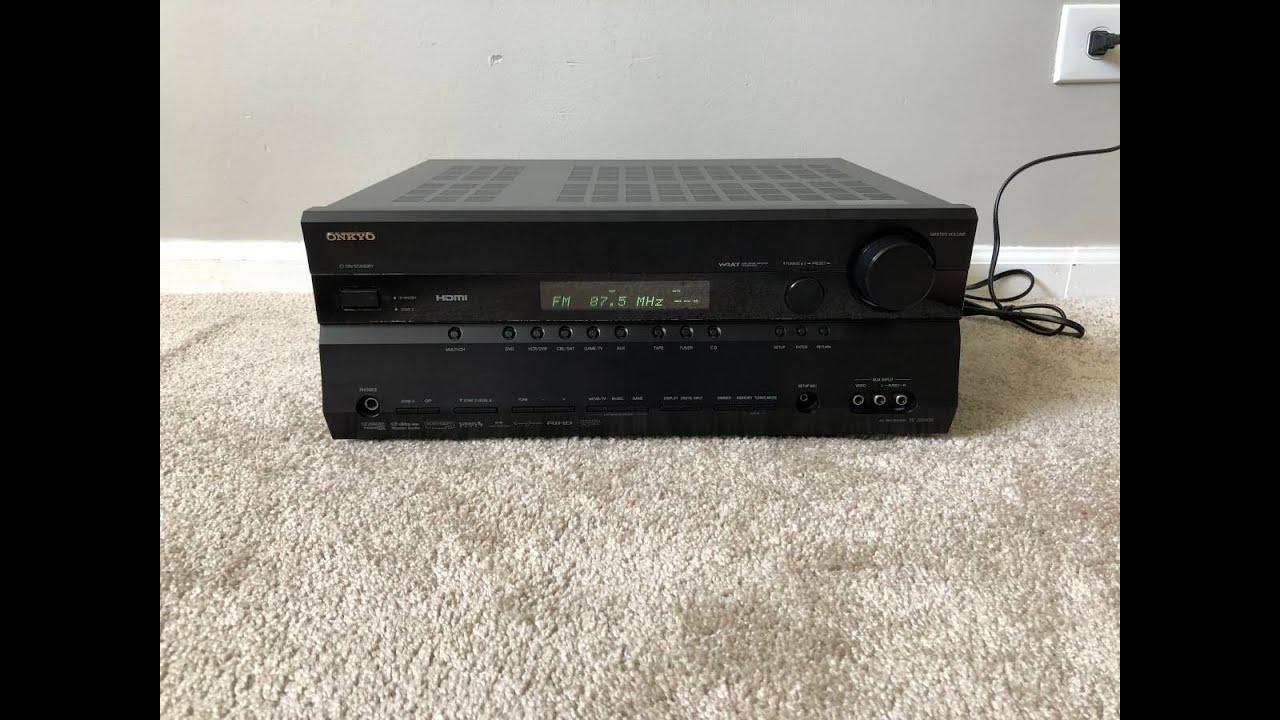Onkyo Tx Sr606 Clicking Noise on