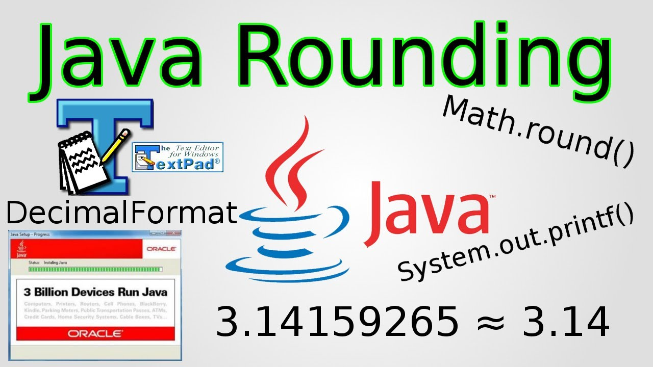 Java Rounding Numbers Mathund Decimalformat Printf Youtube