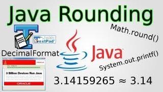 Java: Rounding Numbers (Math.round(), DecimalFormat & printf)