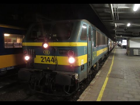 Belgium: NMBS/SNCB Class 21 Leaving Brussels Midi Station On An IC Train