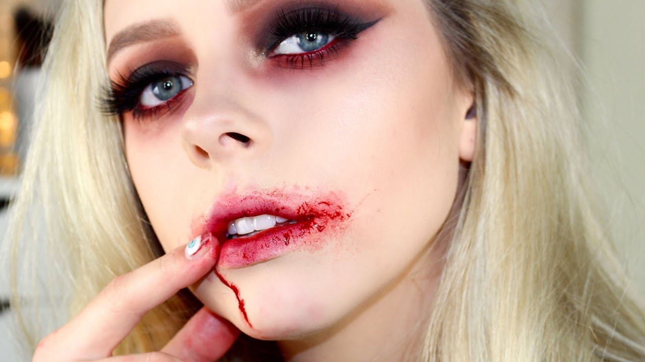 Sultry Vampire Halloween Makeup Tutorial | Cosmobyhaley - YouTube
