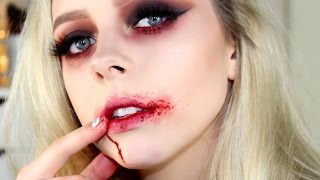Sultry Vampire Halloween Makeup Tutorial | Cosmobyhaley thumbnail