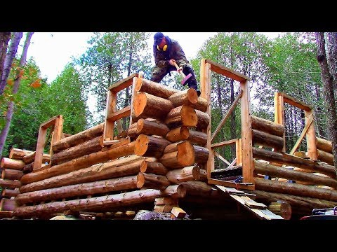 Log Cabin on a Budget- Ep 11- Notches and Slots
