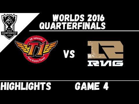 SKT vs RNG   Game 4 Highlights Worlds 2016 Quarterfinals   SK Telecom T1 vs Royal Never Give Up