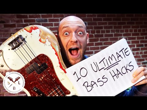 Top 10 ULTIMATE Bass Guitar Hacks... in Under 10 Minutes!