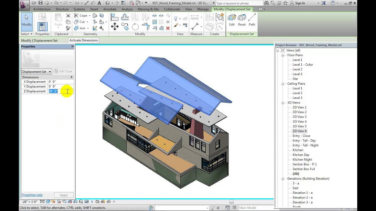 What's New in Revit 2014: Displaced Views - YouTube
