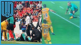 El abanderado tuvo que ser sustituido por quien fue designado como cuarto árbitro: Óscar Mejía