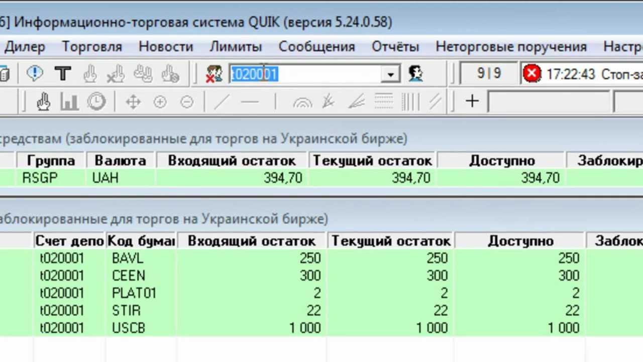 Торговля на бирже через quik видео прогноз курса доллара на forex