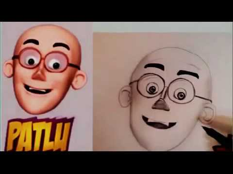 How To Draw Motu Patlu Fast And Easy Youtube