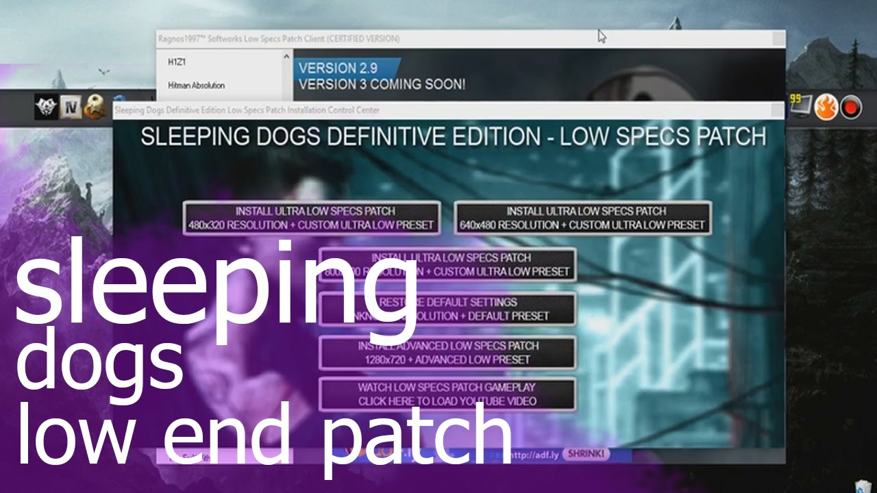 how to play sleeping dogs on low end pc
