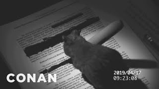 The Tidy Mouse Helped Redact The Mueller Report - CONAN on TBS