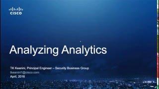 Analyzing Analytics - Turning Big Data into Security Intelligence