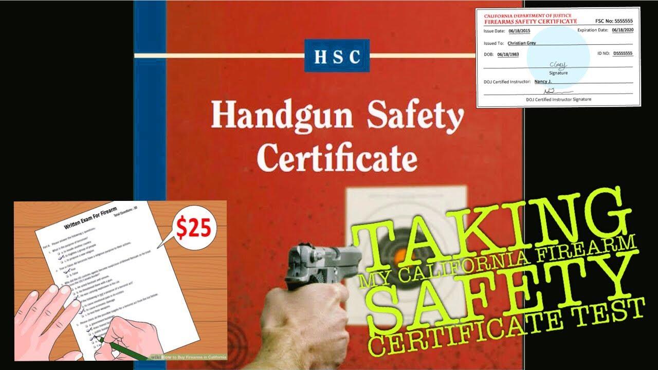 california ccw certificate safety permit firearm test vlog county gun apply application orange