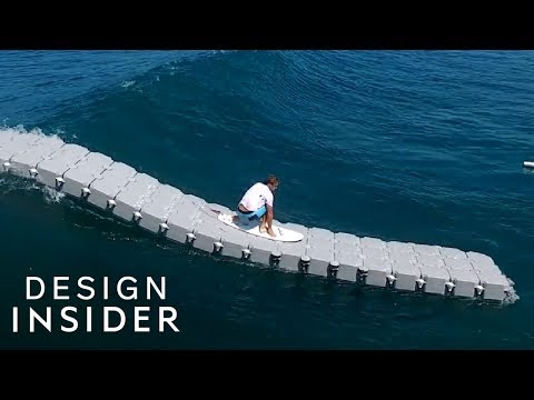 Giant Dock Helps Surfers Catch Waves