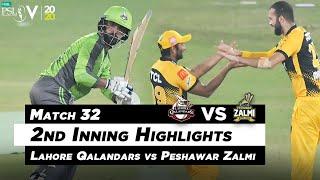 Lahore Qalandars vs Peshawar Zalmi | 2nd Inning Highlights | Match 32 | HBL PSL 2020 | MB2L