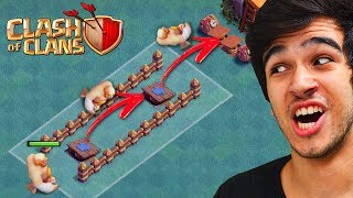 LAYOUT DO EMPURRÃO TROLL NA BASE DO CONSTRUTOR DO CLASH OF CLANS