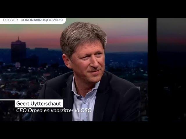 Voorzitter Geert Uytterschaut in De Afspraak (Canvas)