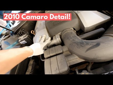 Engine Cleaning, Full Interior Cleaning, and Wash on 2018 Camaro - Auto Detailing Tips