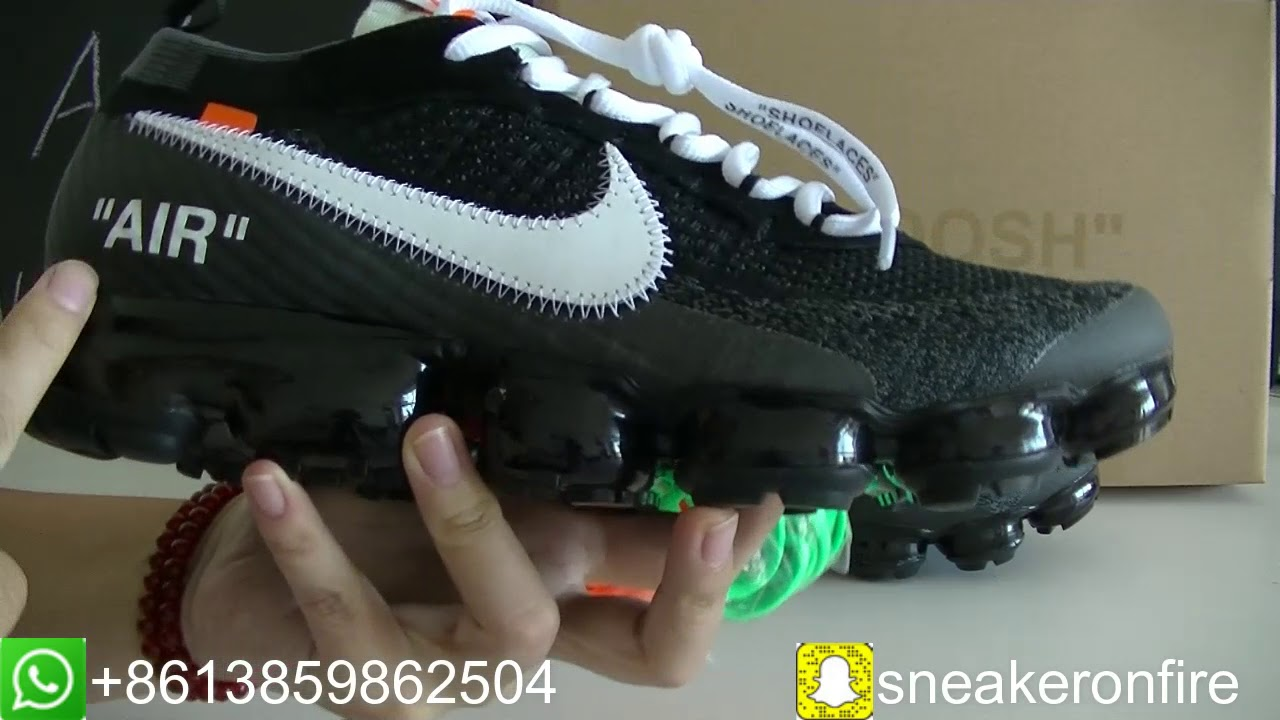 OFF-WHITE X NIKE VAPORMAX Unboxing Review From sneakeronfire.us