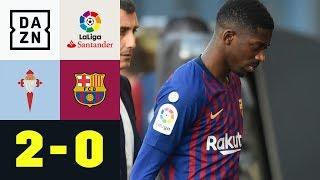 Blitz-Verletzung von Ousmane Dembele und Pleite: Celta Vigo - FC Barcelona 2:0 | La Liga | DAZN