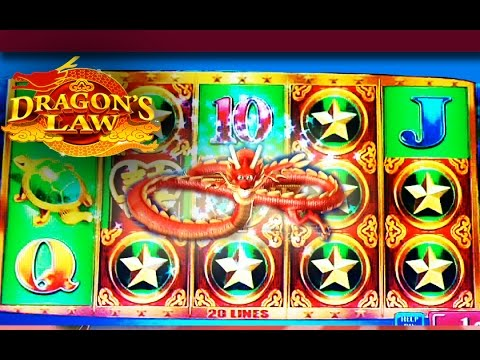 Dragon's Law Slot Win - MAX BET! - Slot Machine Bonus - 동영상