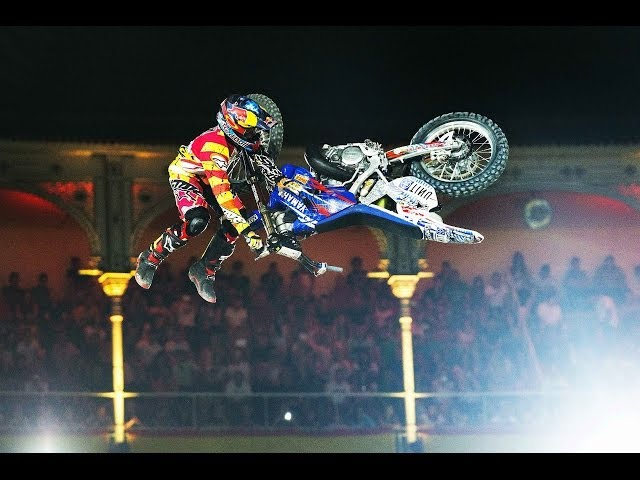 Historic Bike Flip in FMX competition - Red Bull X-Fighters Madrid 2014